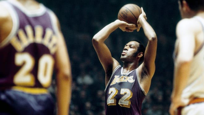 Elgin Baylor's graceful and soaring style of play was a big influence on future stars, including Julius Erving.