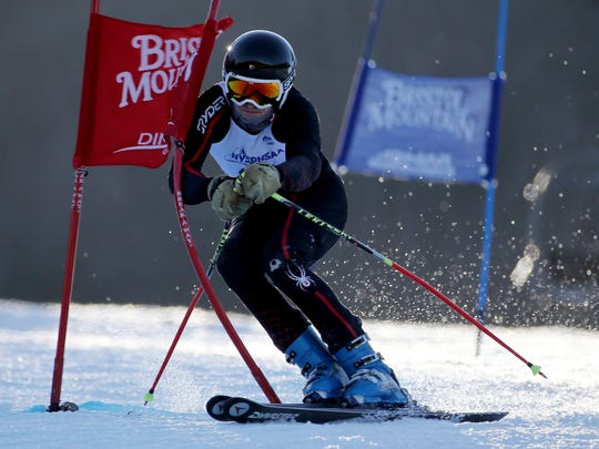 Noah Shinaman of Brighton at New York State Alpine Skiing Championships.