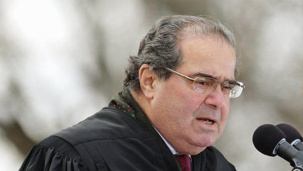 Supreme Court Justice Antonin Scalia in Gettysburg,