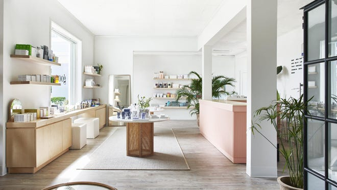 A view of the goop store interior designers Jessica Kamel and Christina Akiskalou of Ronen Lev.