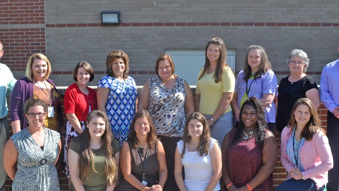 Shown from left in the back row are Dee Wate, Melissa Van Heck, Paige Lee, Amy Brissey, Angie Kelley, Katie Brock, Wanda Screws, Paula McClure and Robert Kelly; and from left in front row are Alyson Peoples, Jenea Roach, Tracy Statham, Kaitlyn Keeler, Savannah Keese and Jenna Hudak. Not pictured: Ladone Black, Eddie Cisson, Lisa Talley and Michelle Tannery.