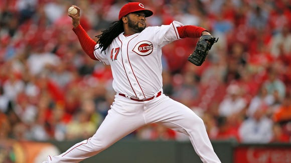 051415 REDS-GIANTS Thursday, May 14, 2015. CINCINNATI 