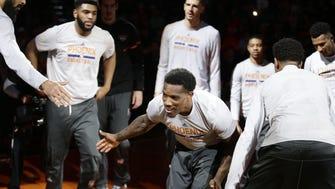 Phoenix Suns Eric Bledsoe against Minnesota Timberwolves in the first half on Jan. 24, 2017 in Phoenix, Ariz.