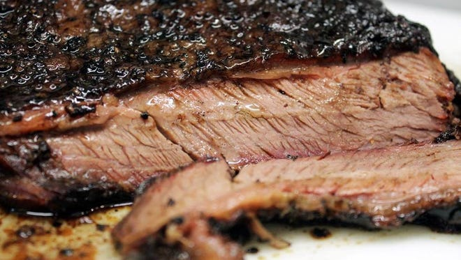 Brisket offered at Dickey's Barbecue Pit.