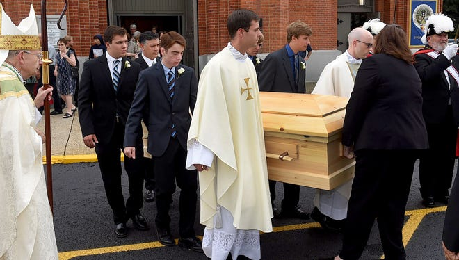 Funeral services for Msgr. Louis Melancon was held Tuesday at St. Landry Catholic Church.