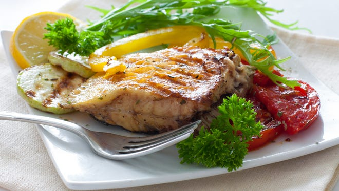 Substituting meat with fish and poultry is a great option and a great source of protein as well.