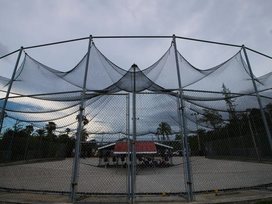 The batting cages at  Mike Greenwell's Bat-a-Ball and