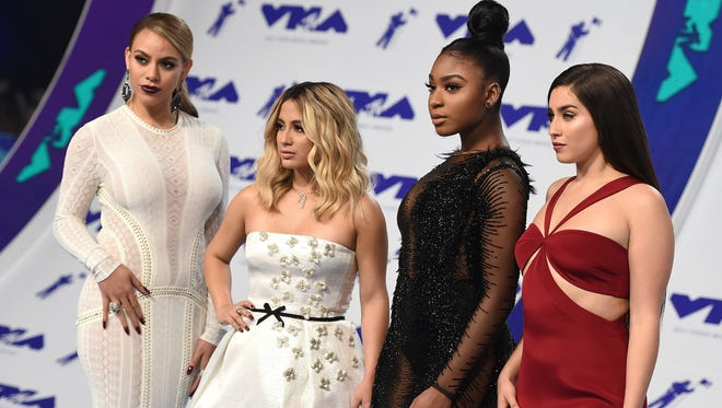 Fifth Harmony arrive at the MTV Video Music Awards on Aug. 27, 2017, in Inglewood, Calif.