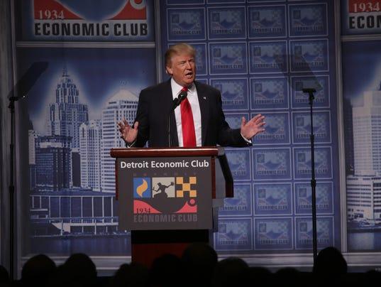 Trump in Detroit