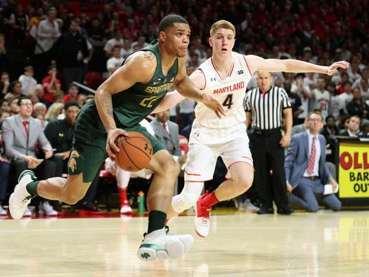 NCAA Basketball: Michigan State at Maryland