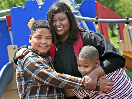 Porshea Johnson will graduate from IUPUI on Saturday, May 12, 2018.  The young mother of two sons was homeless in 2012, but will now be a college graduate.