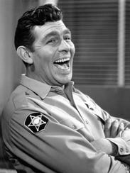 "Andy Griffith plays Sheriff Andy Taylor on ""The Andy"