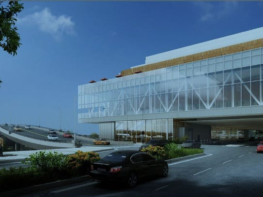 Proposed addition to west facade of Memphis Cook Convention