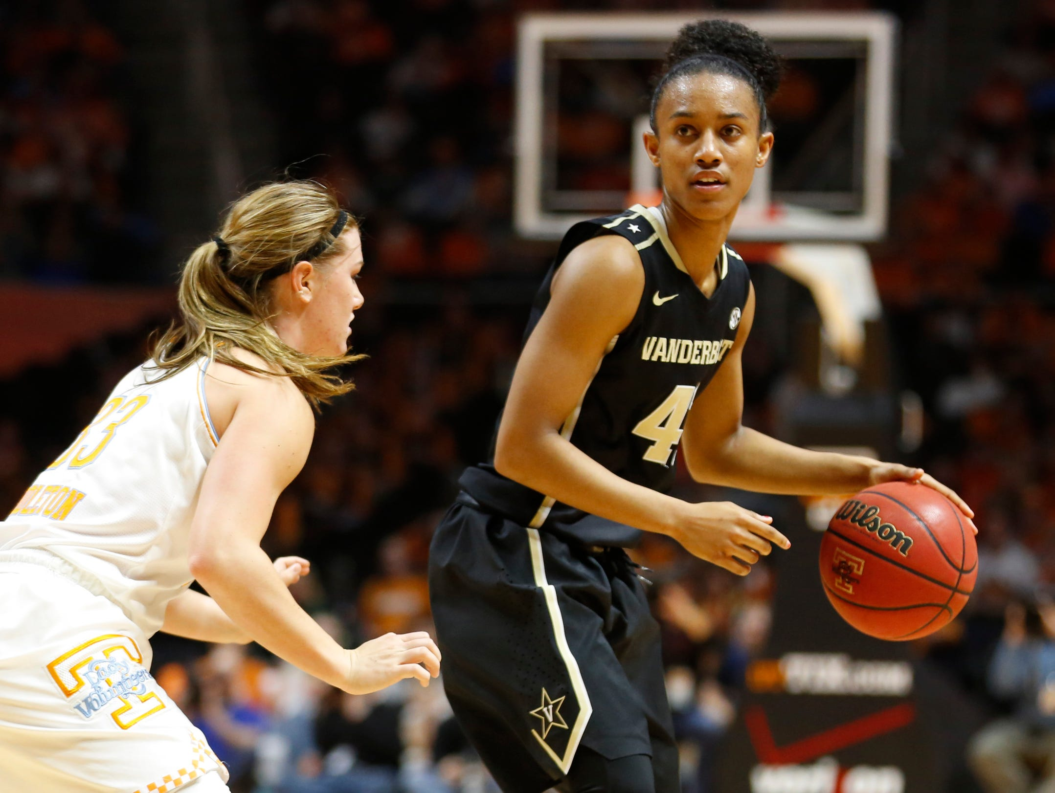 Vanderbilt dropped its regular season finale to No. 6 Tennessee 79-49 at Thompson-Boling Arena in Knoxville, TN on March 1, 2015. Photo by Steven Bridges
