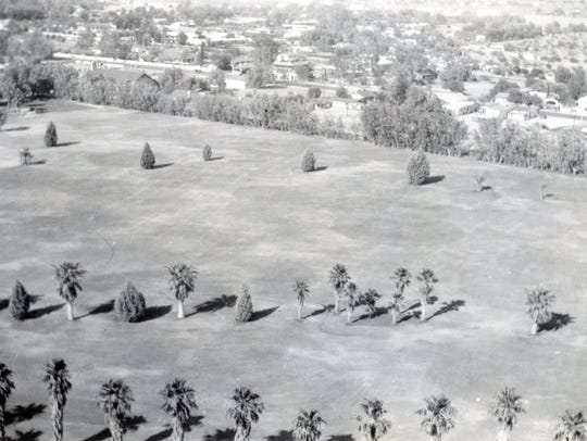 Early aerial of the O'Donnell Golf Course.