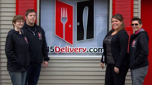 Members of the 715Delivery.com include, from left to right, Jacinta Carver, James Dixon, Laurie Zelenka, and Sharlene Bruder. The business expanded to the Stevens Point/Plover area in March 2016.