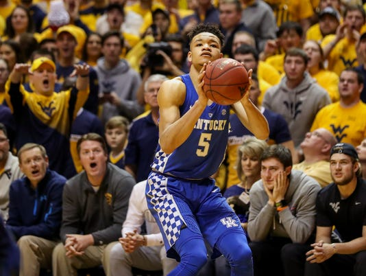 NCAA Basketball: Kentucky at West Virginia