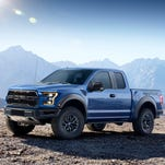 All 2017 Ford F-150 pickups, including this Raptor performance truck, will feature stop-start technology as standard equipment.