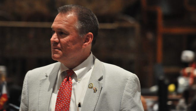 Rep. Alan Seabaugh, R-Shreveport, held onto the House microphone late Monday night to block a final vote on a bill to extend a half a cent of sales tax rather than a third.