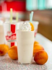 Peach milkshake from Hugh-Baby's.