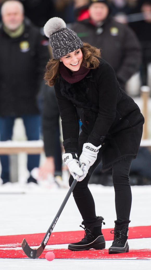 Kate in action.