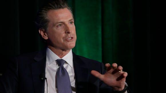 California gubernatorial candidate Lt. Gov. Gavin Newsom,