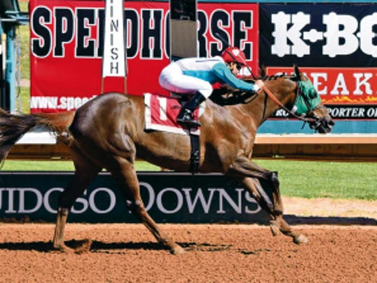 Jockey Ruby Gonzalez gave Ticar Stables, Inc.'s Bright Town a ground-saving trip to win the 50,000 First Lady Handicap for fillies and mares at Ruidoso Downs on Monday afternoon.