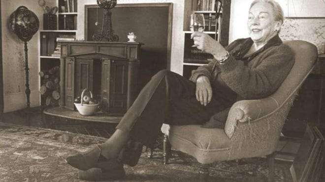"""M.F.K. Fisher knew how to treat herself to a good meal at home, even if she was eating alone. She wrote about the virtues of eating alone in a book called """"An Alphabet for Gourmets."""""""