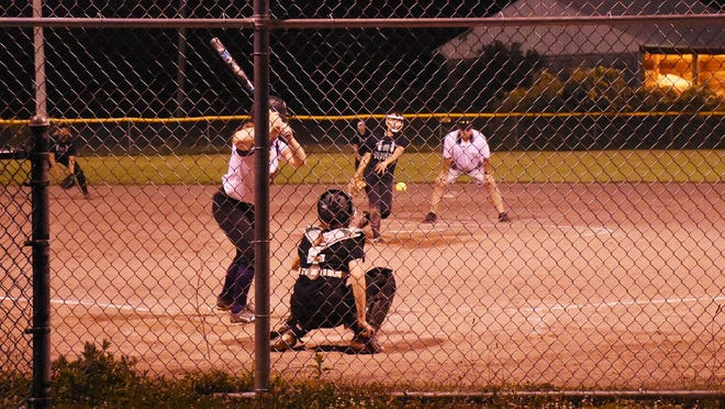 Kristine Nietes delievers a pitch for Team Jecko during Monday's game against Team Clendening at the David P. Whalen Community Park in Ilion, New York.