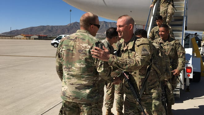 The final soldiers from 1st Brigade returned home after a nine-month deployment to Afghanistan. Their flight arrived Sunday morning at Biggs Army Airfield.