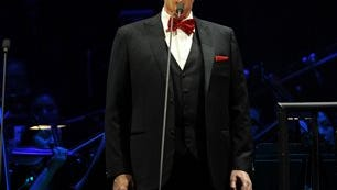 In this file photo, Andrea Bocelli performs a Valentines Day concert at the BB&T Center in Sunrise, Fla. The 56-year-old will launch a U.S. tour today at the MGM Grand Garden Arena in Las Vegas. Stops on the tour will include Houston, Texas; Dallas; Chicago; and Detroit, with the final show at Madison Square Garden in New York on Dec. 17.  He will also play more U.S. dates next year.