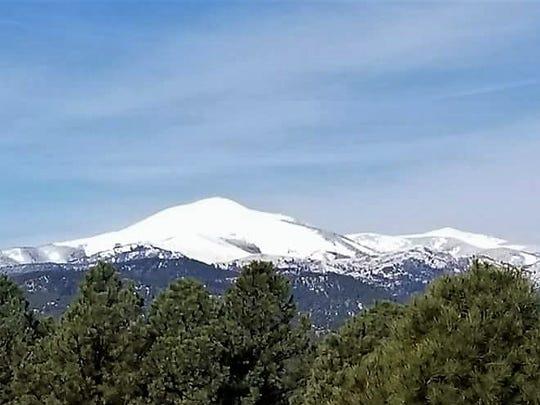 Sierra Blanca and the Sacramento Mountain Range are