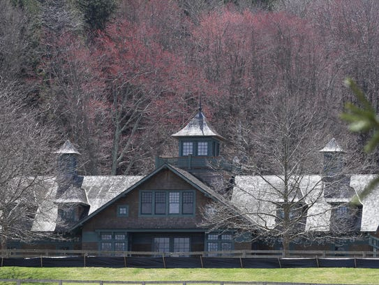 A large barn on North Salem property recently purchased by a trust associated with Bill Gates.