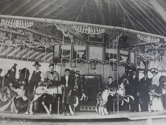 Historic photo in the office of Seabreeze Amusement Park in Irondequoit.
