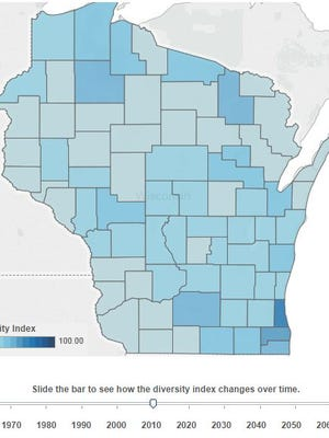 Imagine a future Wisconsin where one in seven people speak Spanish and diverse neighborhoods mirroring big cities like Milwaukee are the norm. That's the vision suggested by new data pointing to dramatic racial and ethnic changes across the state and nation in decades to come.