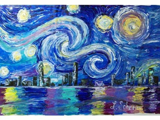 636243989017398864-Lori-Scherer-Finger-Painting-Starry-Nght-city.jpg