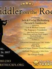 """Come to the 2017 StarStruck Theatre Fundraising Gala, with a fabulous pre-performance cocktail party of """"Fiddler on the Roof"""" on Thursday, Jan. 26th."""
