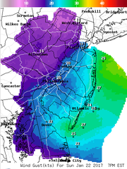Sustained winds are expected to be strong Sunday and