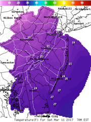 Temperatures this weekend are expected to be below freezing as Arctic air pours into the region.
