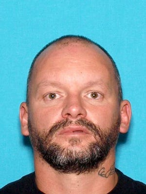 Jason Wrey Blair, 45, of Redding was arrested on suspicion of driving under the influence, crossing into the opposing lane of traffic, evading a peace officer and resisting arrest.