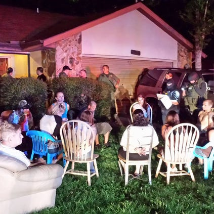 Fourteen people were arrested on various narcotics charges Tuesday after units of the Pasco sheriff execute search warrants at addresses in New Port Richey and Hudson.