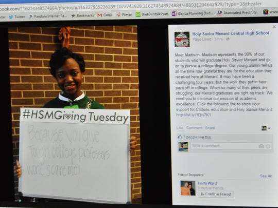 Holy Savior Menard Central High School students remind