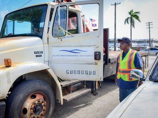 In this file photo, Joe Miner, heavy equipment mechanic for Guam WaterWorks Authority, stages his truck in Mangilao. Waterworksplans three community presentations on its five-year financial plan and capital improvement program in May.