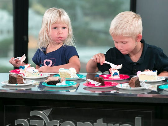 (L-R) Charlotte Rough, 3, and her brother, Scott Rough,