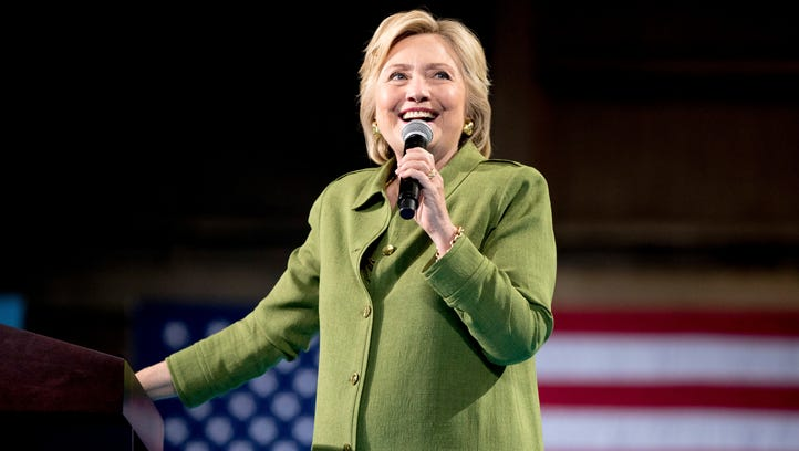 Hillary Clinton speaks at a rally in Tampa on July