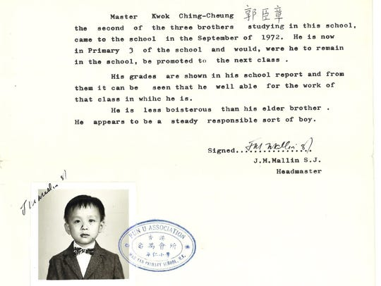 Even at 9, Abe Kwok needed a letter of recommendation