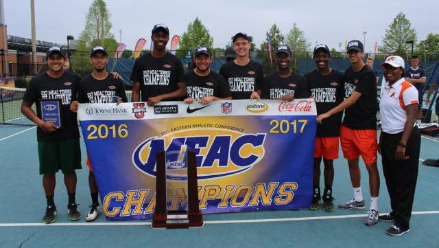 FAMU's men's tennis team won its first MEAC title since 2000 on Saturday, upending South Carolina State 4-2.
