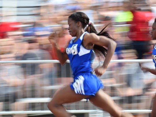 Minneapolis North's T'Nia Riley repeats as 100 meter