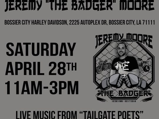 A benefit for the children of Jeremy Moore will be held at the Bossier City Harley Davidson location on Saturday.