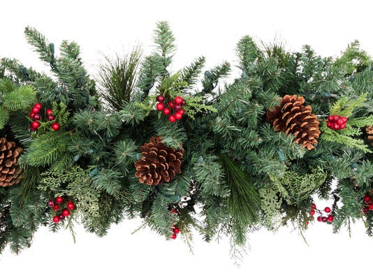 Christmas Garland Isolated on White Background